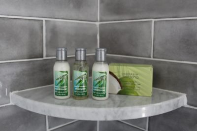 Apartment shower amenities