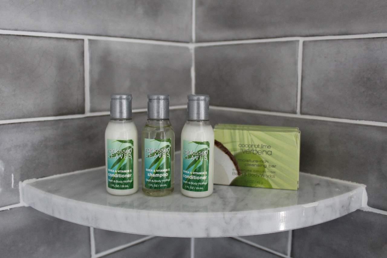 Apartment shower amenities