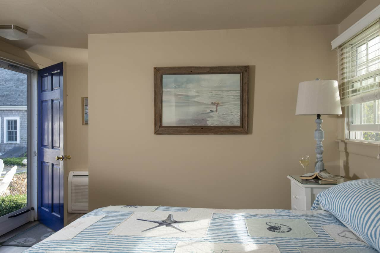 A nautical painting adorns the wall of our king room 16