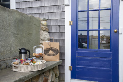 Breakfast to go station outside NAuset Suite