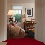 Bedroom view with pocket doors