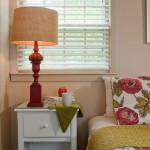 Room 16 bedside table with coffee mug and lamp