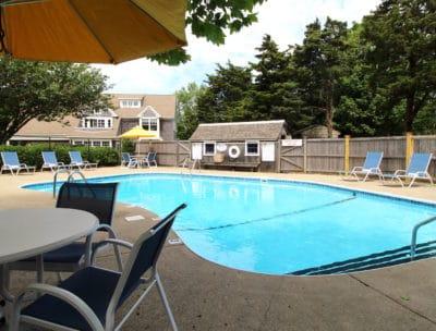 Our seasonal outdoor pool