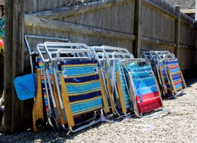 Lots of guest beach chairs to keep everyone happy!