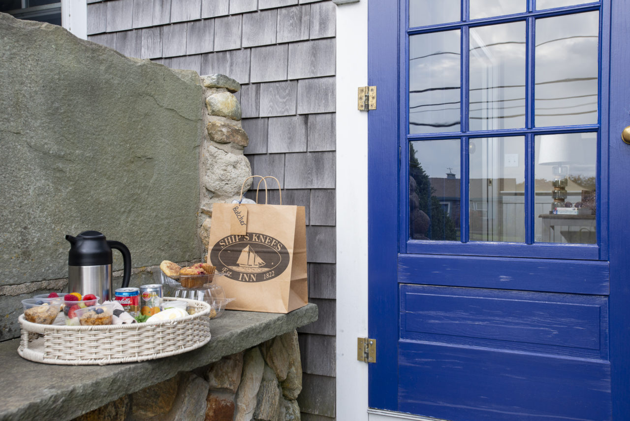 A breakfast to go at our Cape Cod hotel near Nauset beach