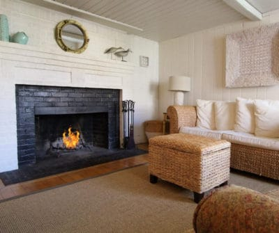 A fireplace warms your room